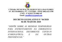 Decreto Legislativo 004/2020