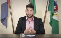 Presidente Adeilson Dantas faz um Pronunciamento referente as atividades deste Poder Legislativo em relação ao Coronavirus.